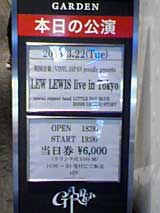 LEW LEWIS live in Tokyo